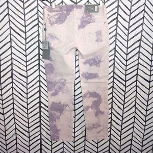 7 FAM Jeans Roxanne Skinny Crop Tie Dye